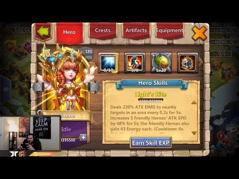 JT's Free 2 Play ATHENE Double Evolved 10th Hero BEAST Castle Clash