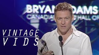 Vintage Vids: Bryan Adams Inducted into The Canadian Music Hall of Fame (2006) | JUNO TV