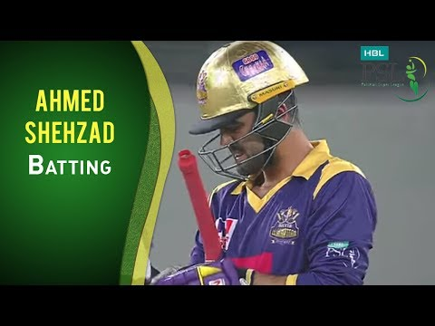 PSL 2017 Match 15: Ahmed Shehzad scores 21 against Usama Mir in an over