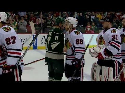 Kane mic'd up during handshake line