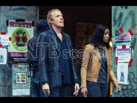 Download Rhys Ifans and Keke Palmer on set in Berlin, filming Berlin Station, Season 2