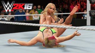 Charlotte vs Natalya Barefoot Submission | WWE 2K16 PC Gameplay