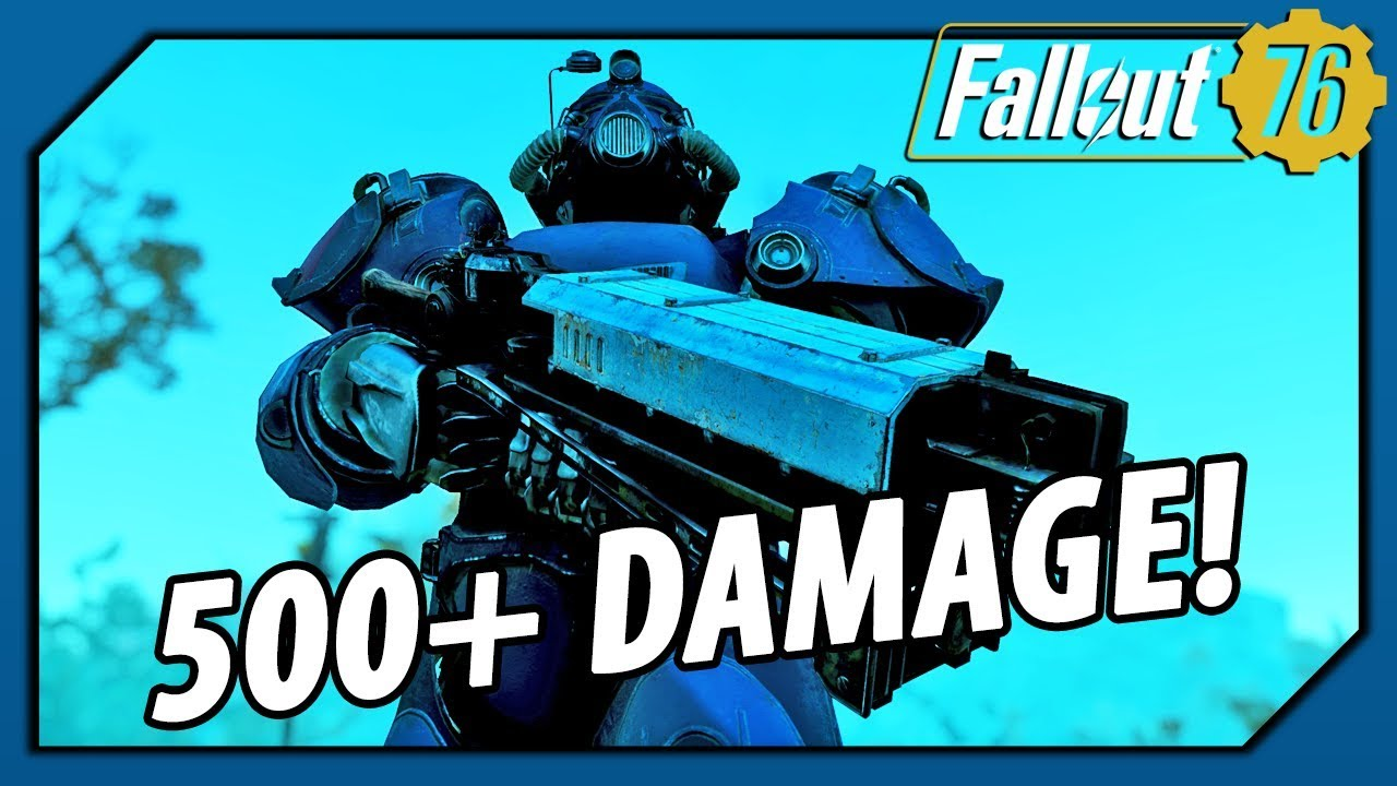Fallout 76 Legendary Weapon - Gauss Rifle with 500+ DAMAGE!