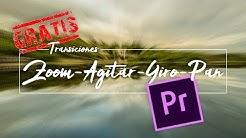 🎬 Transiciones GRATUITAS para Premiere – Zoom, Giro, Agitar, Pan 🎥