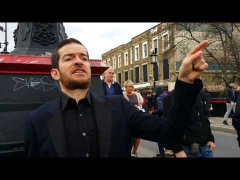 Ex-Homeless Preacher Preaching Fire In Camden Lock London 2015. (1)