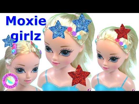 Búp Bê MOXIE GIRLZ Mỹ 💗 Chị Bí Đỏ Tạo 3 Kiểu Tóc Cho Moxie Girlz Hair Styling Head Doll