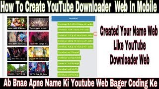 How To Create YouTube video Downloader  WAP Web Without Coding Easy Trick | Mack Your Owner Wap