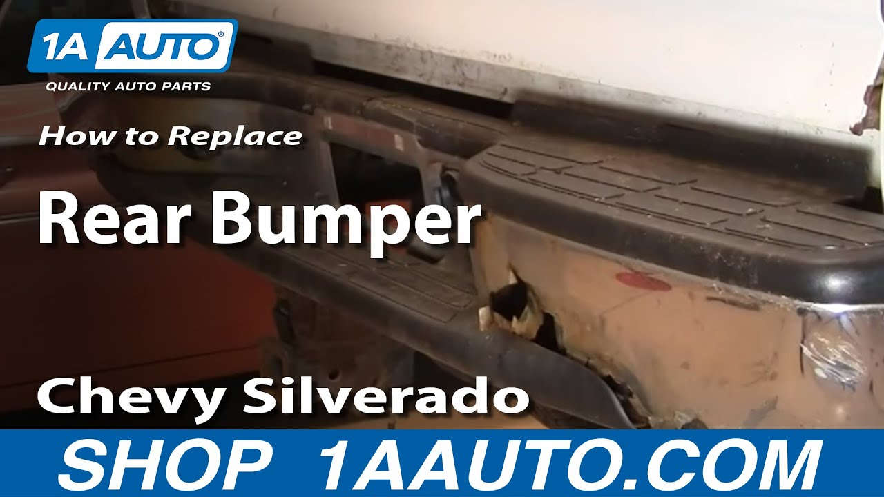 how to replace rear bumper 99-06 gmc sierra
