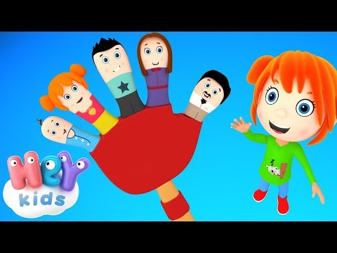The Finger Family song for kids 🖐Daddy Finger, Mommy Finger + more nursery rhymes by HeyKids!