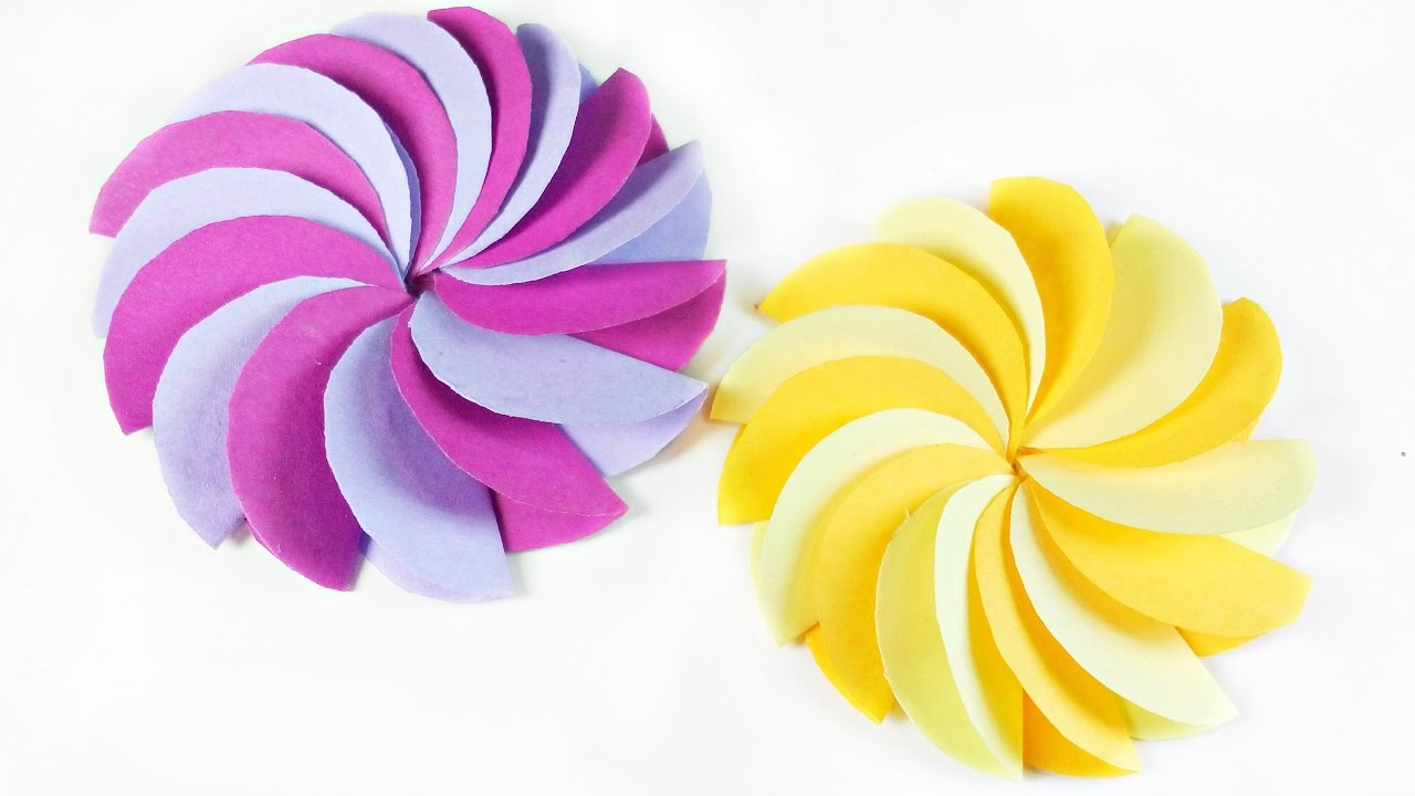 DIY paper Circle flower for wall backdrop decoration / arts and ...
