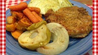 Savory Pork Chop Sheet Pan Dinner  Noreens Kitchen