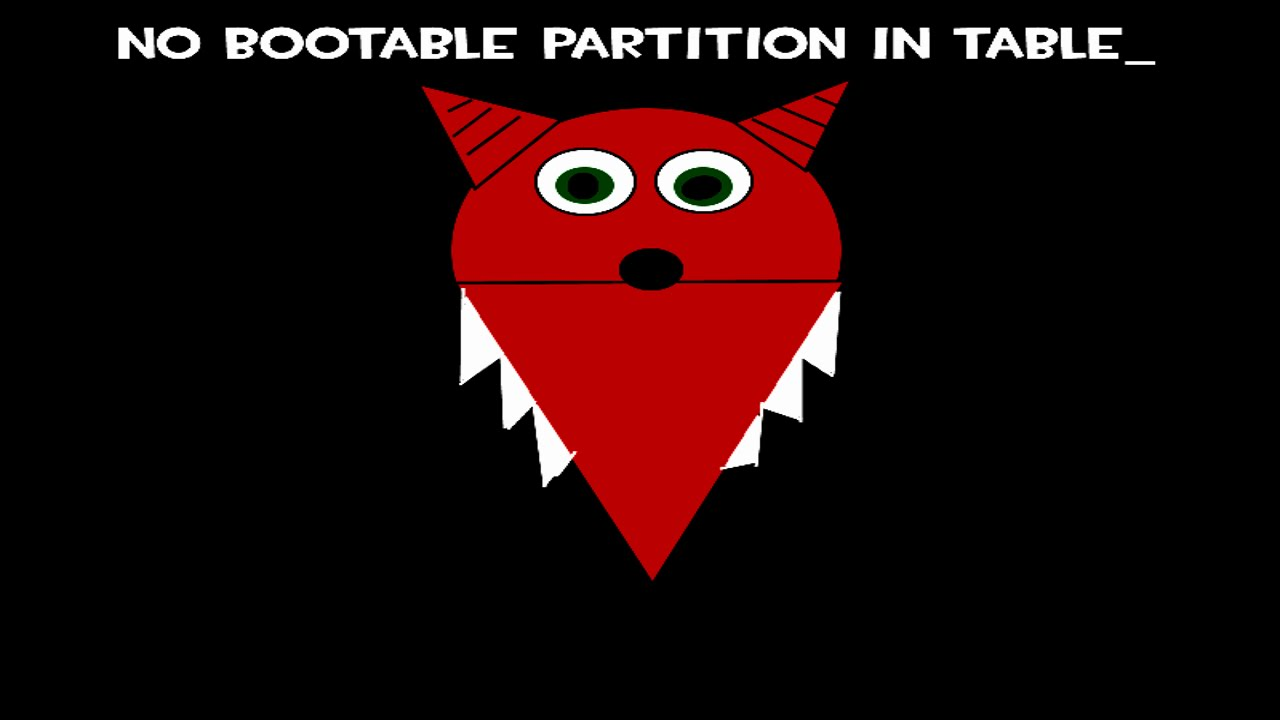 TF2NOT: No Bootable Partition in Table