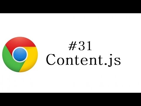 Chrome Extension Tutorial - 31 - Content js