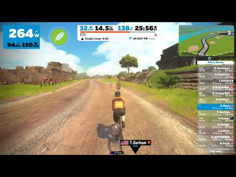 First time through the Zwift Jungle