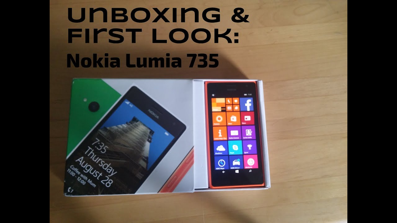 Nokia Lumia 735 - Unboxing and first impressions of the