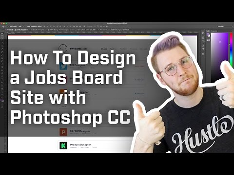 How to design a jobs board site with Photoshop CC (Week 5 of 12)