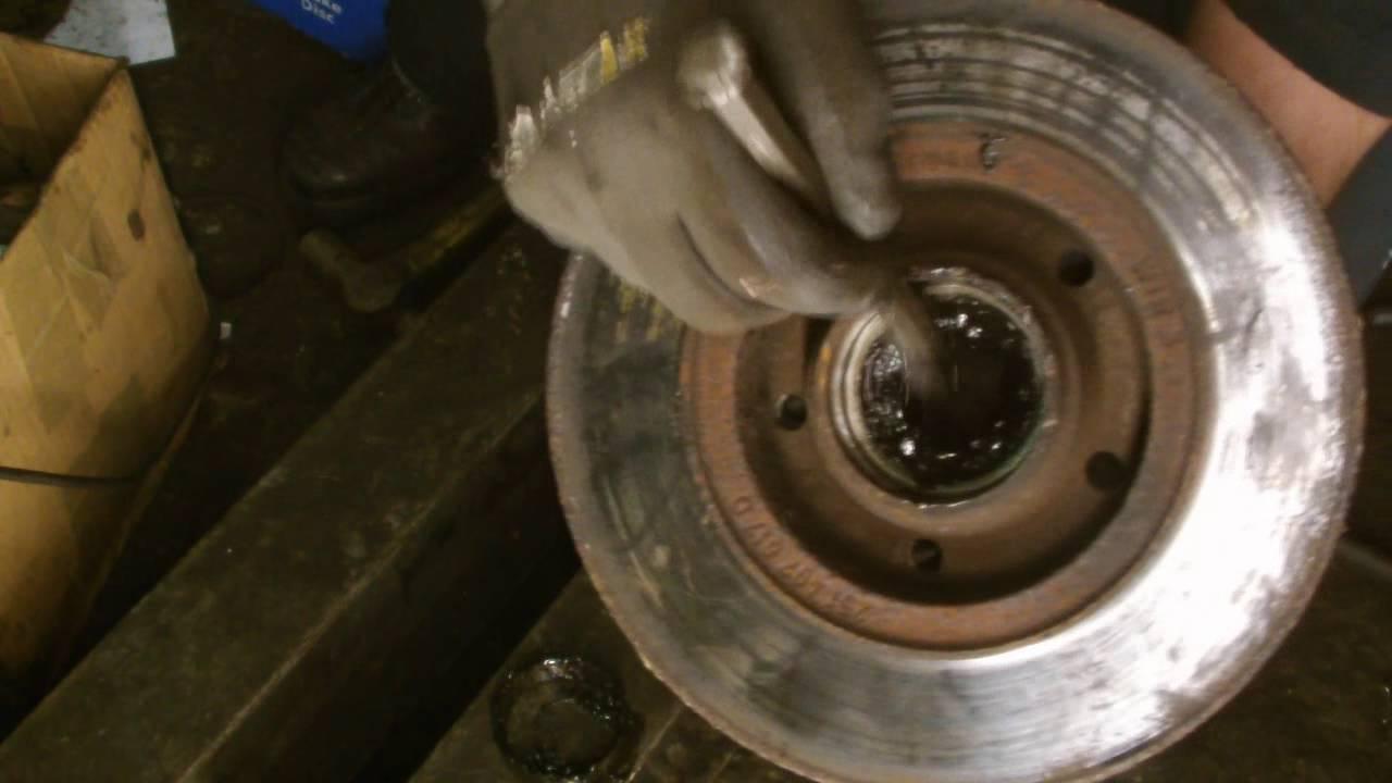 Volkswagen Wheel Bearing Puller : Vw transporter vanagon camper front wheel bearing removal
