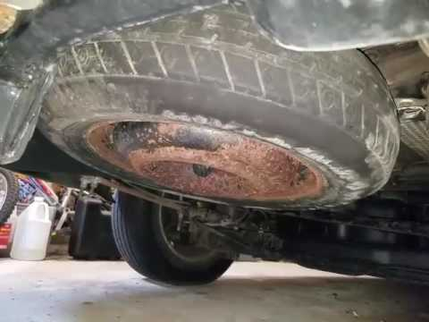2001 Dodge Grand Caravan Spare Tire Replacement Youtube