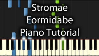 Stromae - Formidable Tutorial (How To Play On Piano)