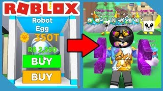 I Opened the NEW Robot Egg and Got This! - Roblox Magnet Simulator