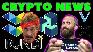 McAfee Hacked | Pundi X News | Elastos Airdrop | ZenCash Rebrand | $VET $XRP $ITC