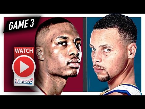 Stephen Curry vs Damian Lillard Game 3 Duel Highlights (2017 Playoffs) Warriors vs Blazers - SICK!