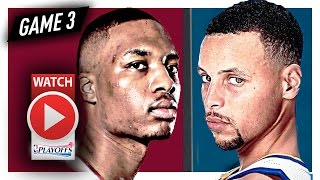 Stephen Curry vs Damian Lillard Game 3 Duel Highlights (2017 Playoffs) Warriors vs Blazers - SICK!
