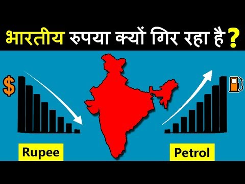 Why Indian RUPEE is falling against US dollar? and why prices of petrol & diesel is also increase?