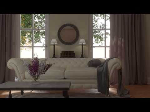 Living space. Photoreal soft furnishings and fabrics. Gentle light. | Moko3D | HD 1080P