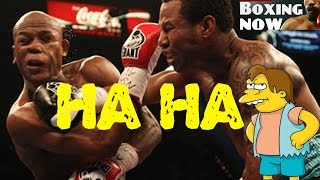 Floyd Mayweather Screams After Punch From Shane Mosley thumbnail