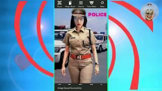 Women Police Photo Suit Editor screenshot 1