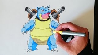 Como dibujar a Blastoise paso a paso - How to draw Blastoise step by step