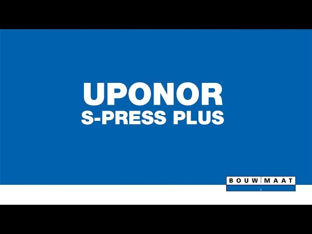 Uponor S-Press Plus perskoppeling introductie