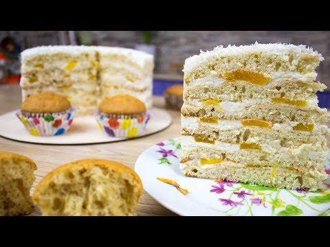 🍰Бисквит на сметане и сгущенке👍 для торта и капкейков🍰- Я - ТОРТодел!