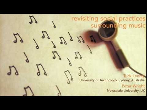Revisiting social practices surrounding music