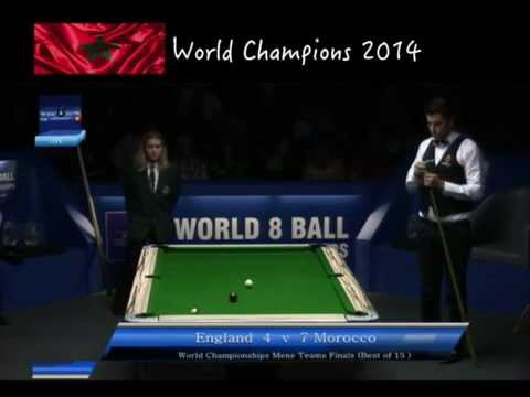 Eight Ball World championships mens teams Final == Morocco vs England 2014
