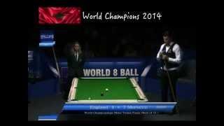 Eight Ball World championships mens teams Final == Morocco vs England 2014