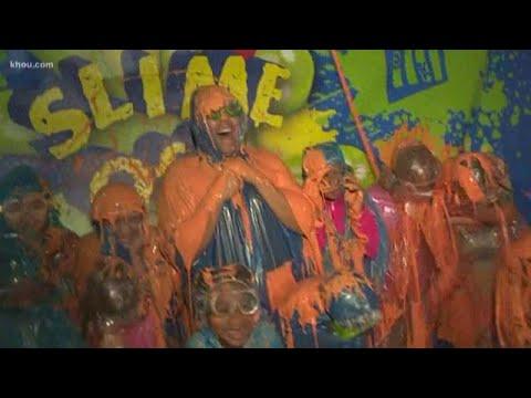 Getting Slimed At Grosstopia Inside The Children's Museum Of Houston