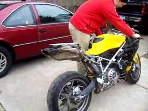 ducati 999 cored exhaust. - youtube
