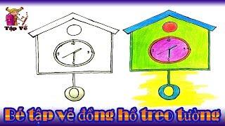 Bé tập vẽ Đồng hồ treo tường theo mẫu  | draw a wall clock