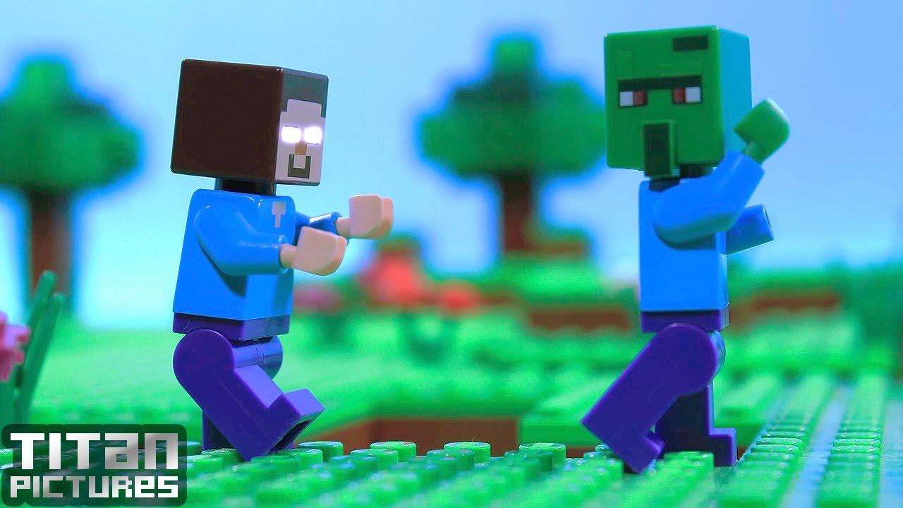 Zombie Life - Lego Minecraft Animation