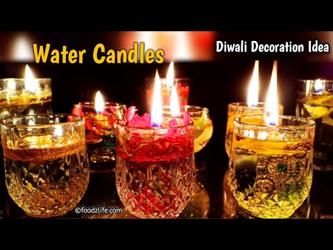 Diwali Decoration Ideas   Water Candles   DIY   Home decor