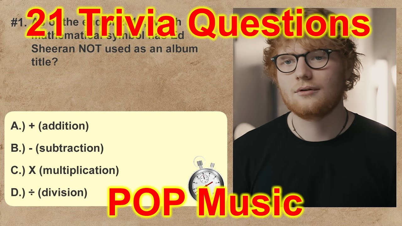 21 Trivia Questions Music Pop Music No 1 Fun Quiz Questions Youtube