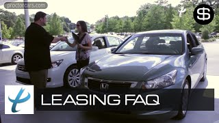 Car Leasing Explained & Automotive Vehicle Leasing Frequently Asked Questions