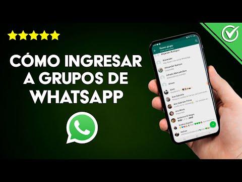 Cómo Unirse, Entrar o Ingresar a Grupos de WhatsApp Messenger sin Problemas