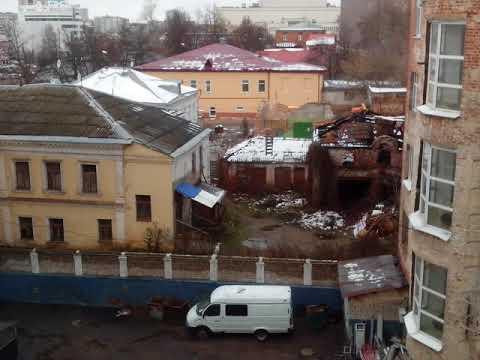 Сломали бывший автосервис в Иванове (timelapse)