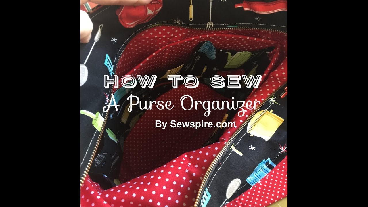 How to sew a purse organizer insert for a tote bag without pockets how to sew a purse organizer insert for a tote bag without pockets by sewspire solutioingenieria Choice Image
