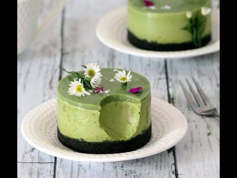 Vegan White Chocolate Matcha Cream Cake