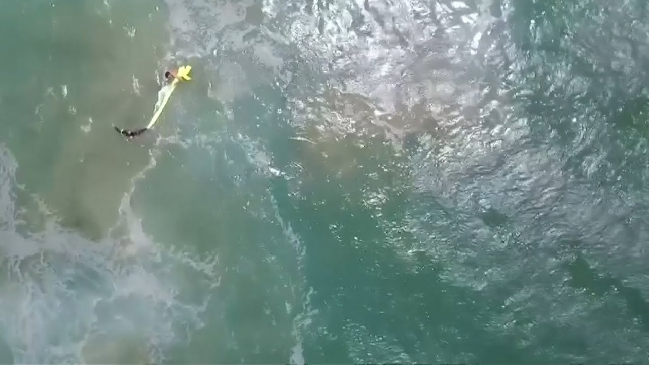 In Australia, the drone first saved drowning people