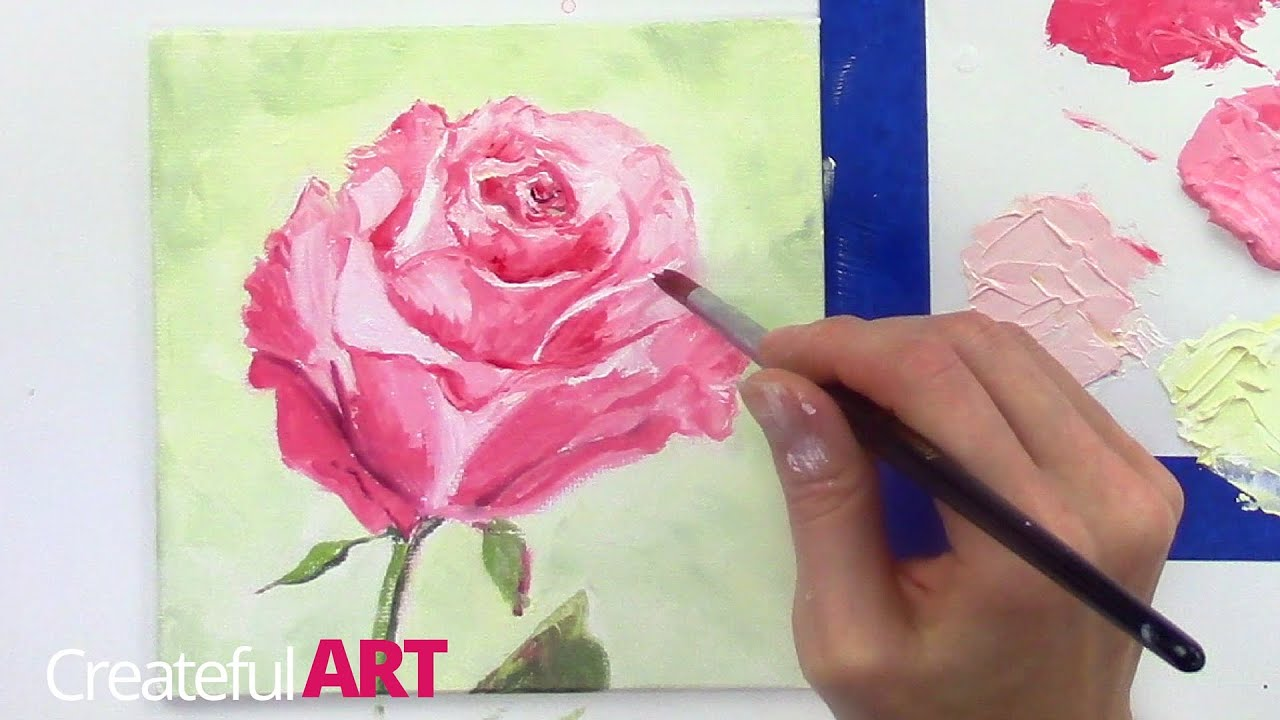 How to paint a rose with oil paints youtube for How to paint flowers with oil paint